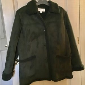 Women L Forest Green Winter Jacket/Coat